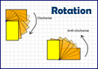 How to rotate shapes